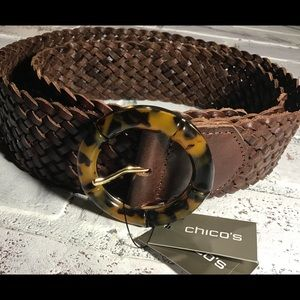 NWT CHICO'S SZ M Leather Belt